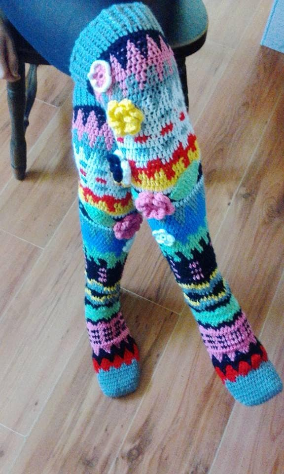 Crocheting Socks : Knee socks crochet PDF pattern INSTANT DOWNLOAD