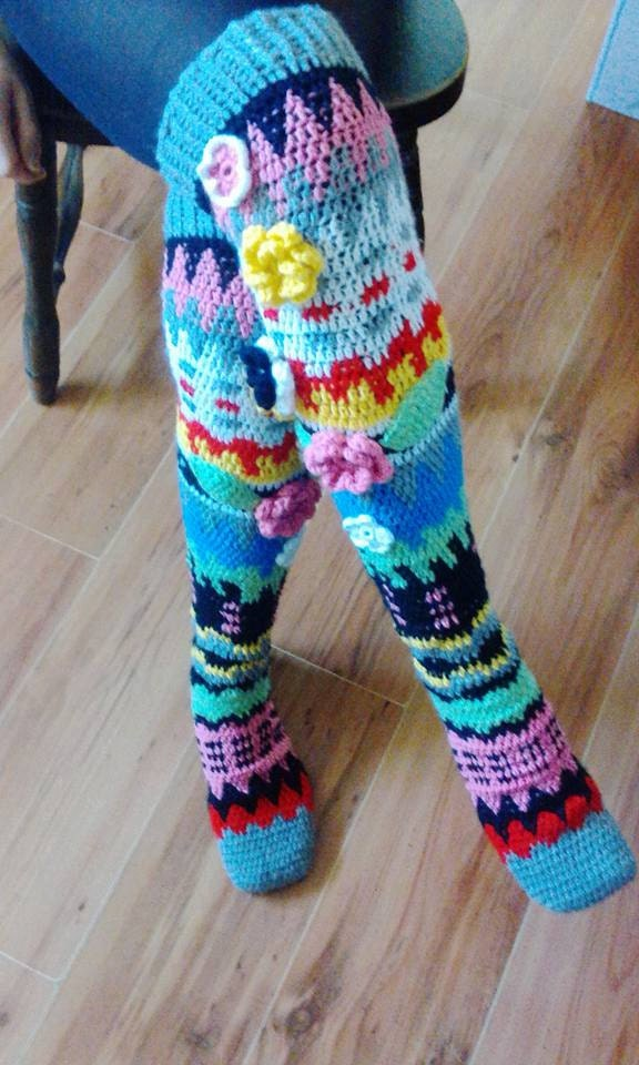Crochet Socks : Knee socks crochet PDF pattern INSTANT DOWNLOAD