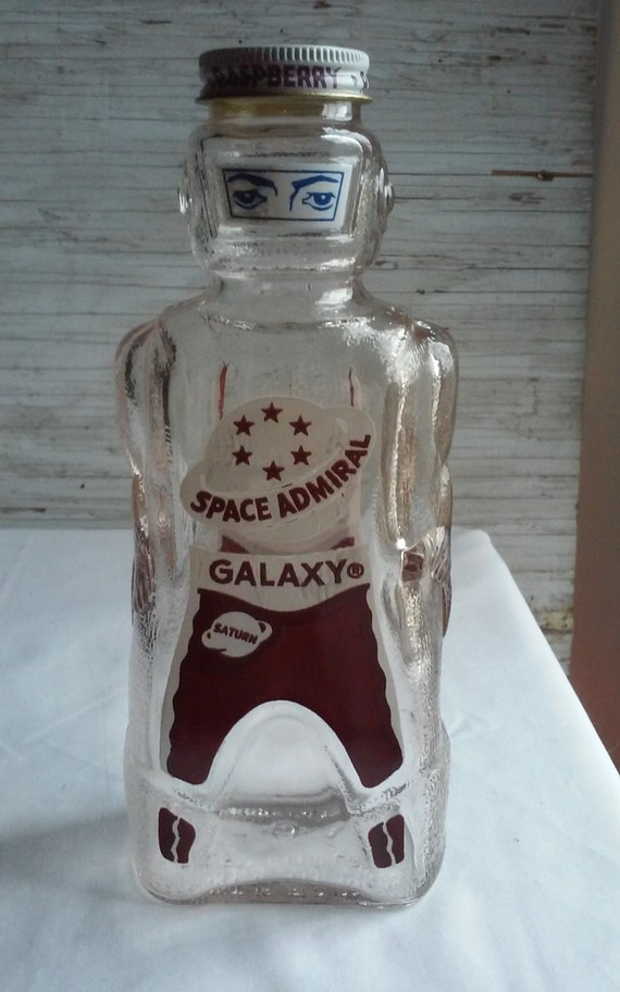 Vintage 1950s Space Admiral Galaxy Bank.  Bottom embossed Space Foods Baltimore,Md. Heavy Glass Mfg by Owens Illinois. Mint Condition. Clean