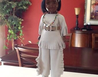 Native American Doll W/ Sleeping Eyes