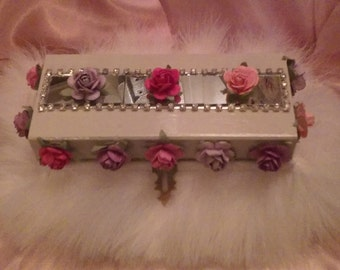 Fun Feathers and Floral Decorative Box