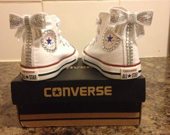 New Customised Crystal Converse Infant Sizes 2 3 4 5 6 7 8 9 10