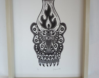Oil Lantern Print