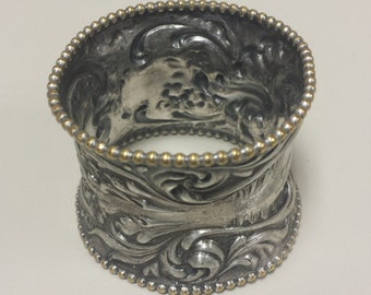 Antique Victorian Silver Plated Napkin Ring