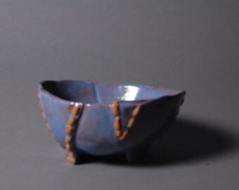 Ceramic 'stitched' bowl