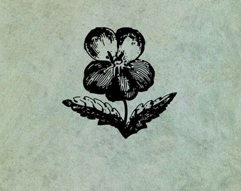 Pansy Flower LARGE - Antique Style Clear Stamp