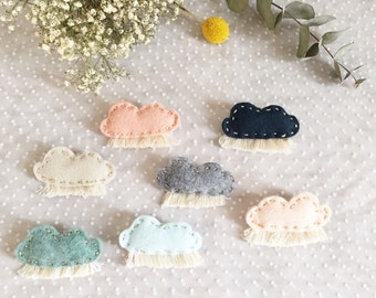 Cloud felt brooches