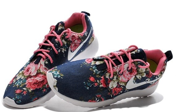 Custom Nike Roshe Run Clouds-Navy