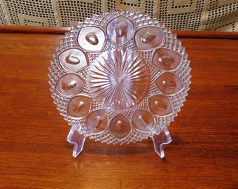 Pressed Glass 7.5 inch Plate (FREE SHIPPING)