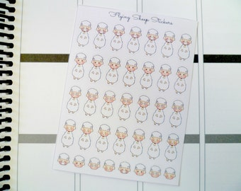 Various Extreme 2 Sheep Emoji/Character Planner Stickers - SHEEPIE