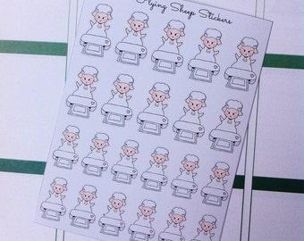 Silhouette Portrait Machine Sheep Emoji/Character Planner Stickers - SHEEPIE