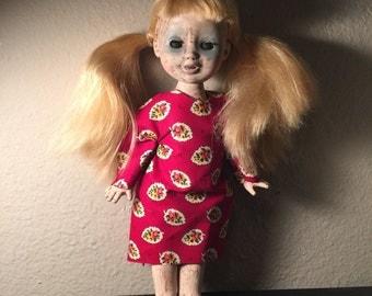 Creepy ghost Gothic horror doll Carolann