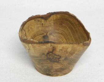 Natural Edged Oak Bowl