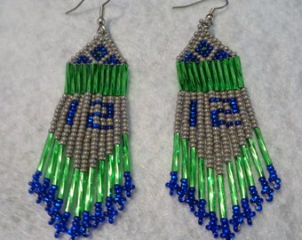 Beaded 12's Earrings