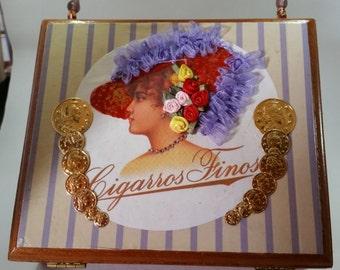 Red Hat Lady Cigar Box Purse