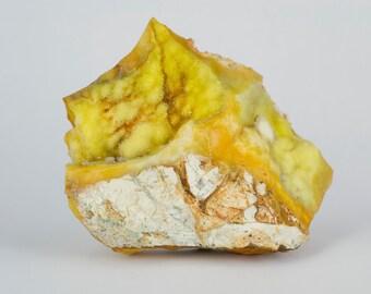 NEW MINERAL - Yellow Druzy Chalcedony Specimen from Turkey
