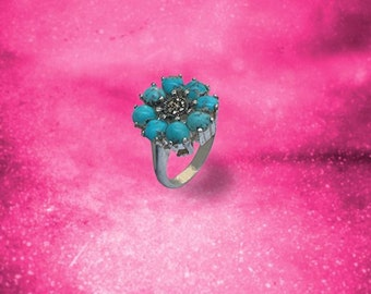 Crown Turquoise Ring