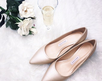 EU 39,wedding shoes, low heel bridal shoes,low heel wedding shoes , wedding shoes champagne, pink gold, bridal shoes,Bridesmaid shoes,