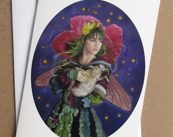 Greeting card: The kitty fairy