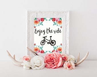 Enjoy the Ride Printable Wall Art