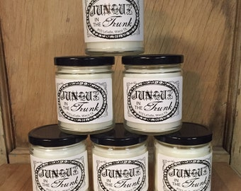 "9 oz. ""Junque in the Trunk"" candle"