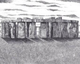 "15"" x 20.5"" Stonehenge II Signed Print"