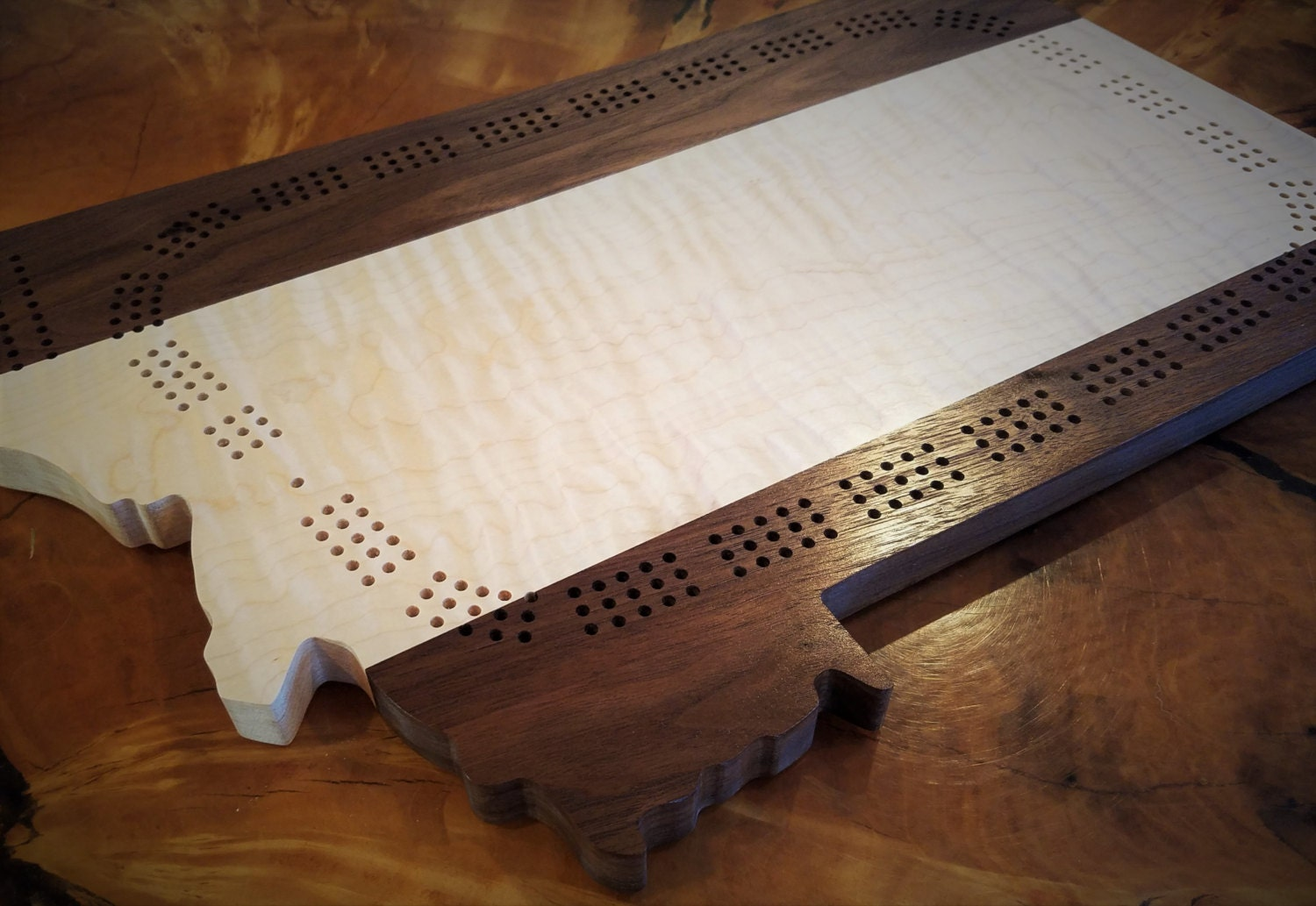 Crib boards for sale uk - Cribbage Board Montana State Wooden Cribbage Curly Maple 3 Track 2 Track Three Track Cribbage 2 Track Cribbage Hardwood Rustic