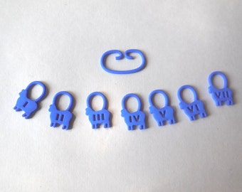 Counting Sheep -- Blue 3D Printed Stitch Markers