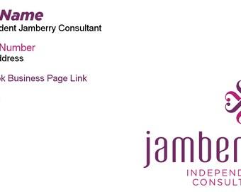Jamberry Nails Business Card - Horizontal