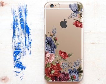 Floral iPhone 6s Case Phone 6s Case iPhone 6 Case Flower iPhone 6 Plus Case iPhone 6s Plus Case Galaxy Edge S6 S7 S5 Cute Phone CGCP0035