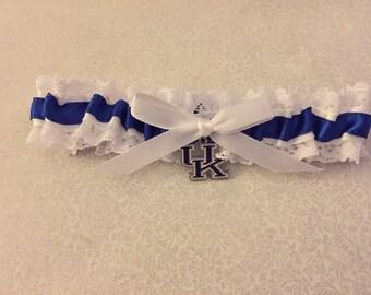 University of Kentucky wedding garter