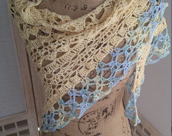 Crochet Sunkissed Yellow Shawl