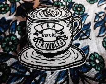 Tea Before Troubles Brooch