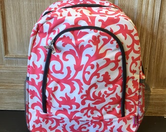 Last one! Vine Backpack, Monogrammed Backpack, Monogrammed Bookbag, Personalized Bookbag, Personalized Backpack, Bookbag, Backpack