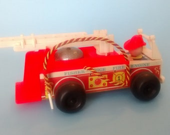 Vintage Fisher Price Fire Truck 720