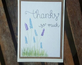 Thanks So Much Floral Card