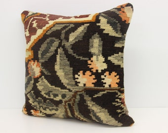 Handmade kilim pillow cover 18x18 inches Rustic kilim pillow cover Home Decor Accent pillow Decorative pillow Throw Pillows SBB-384