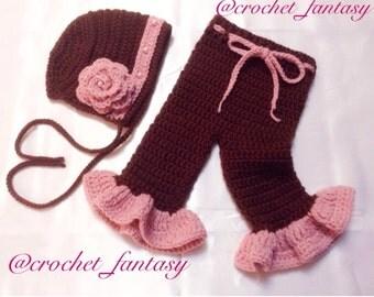 Baby Pants and Bonnet set