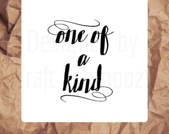 One of a kind business stickers - Square stickers, business labels