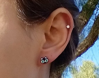 Black Cat Piercing Earring