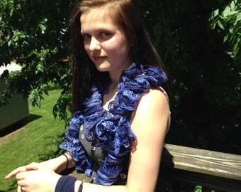 Blue Spiral scarf
