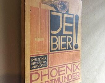 Je Bier! Artwork/wood print