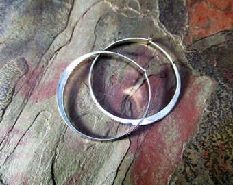 modern minimalist handmade hoop earrings gold filled sterling silver