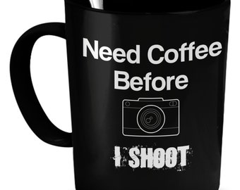 Fun Photography Ceramic Mug In Black.  Get This For Yourself Or The Photographer In Your Life.