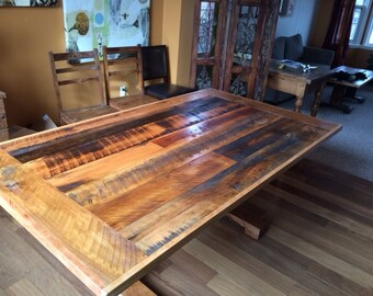 Custom Reclaimed hardwood dining Table