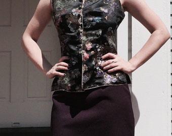 VTG Purple High Waist Mini Pencil Skirt