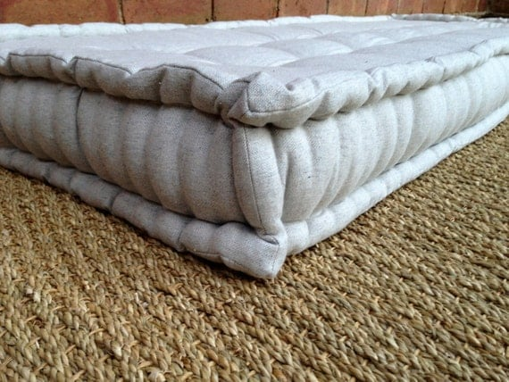French Mattress Day Bed Cushion Quilted Edge Hand Tufted