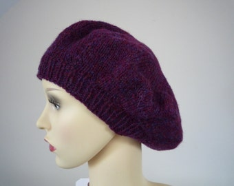 Hand Knit lambswool beret
