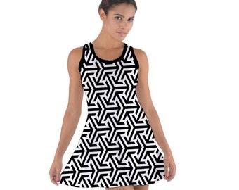 Black and White, Women, Dress, Black And White Prints