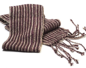 Scarf knitted Brown unisex
